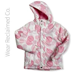 🆕 Girls Pink White Winter Jacket | Size 10-12